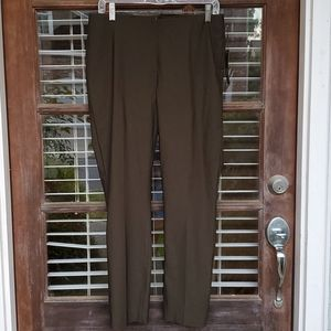 Crosby Elastic Waist Hunter Green Stretchy Pants
